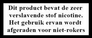 waarschuwing nicotine verslavend