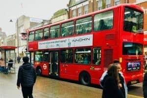 London bus reclame