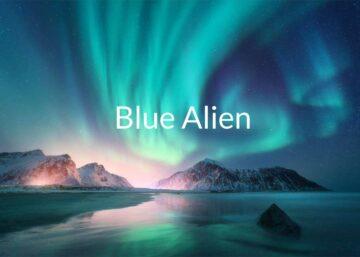 Blue alien liquideo